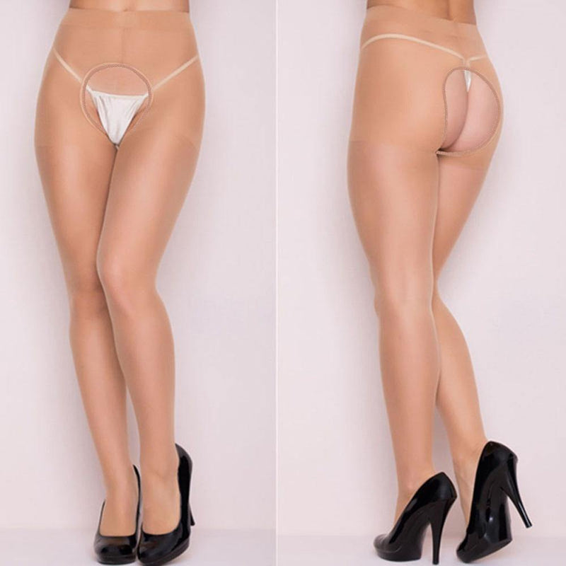 Nonslip Crotchless Pantyhose