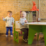 Kids playing with Table and Chairs