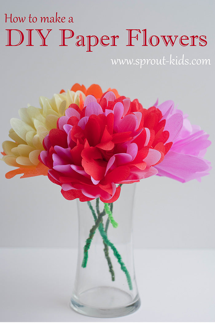Diy Paper Flowers Fun And Easy Crafts For Kids Diy Home Decor
