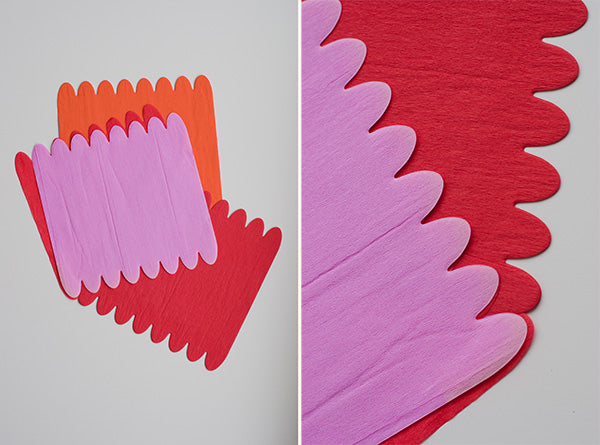 First Lay Four Sheets Of Crepe Paper On Top Each Other If You Want A Smaller Flower