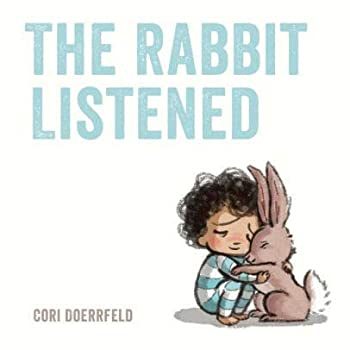 Book with Rabbit and Child Hugging on Cover
