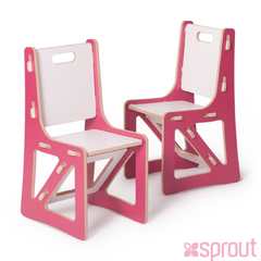 Kid's Chair (2 pack)- Pink
