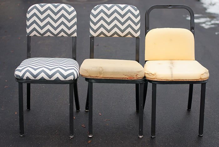 Diy Reupholster Dining Chair Furniture Makeovers Diy Home
