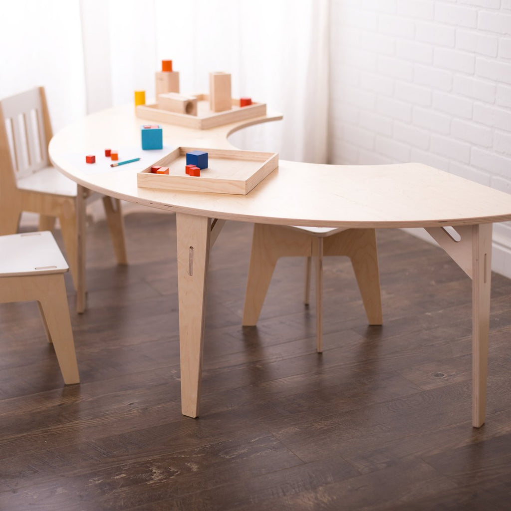 Montessori Half Round Tables Crescent Table Kidney Table Sprout