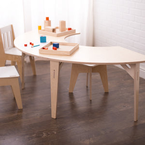 Half Round Birch Montessori Table