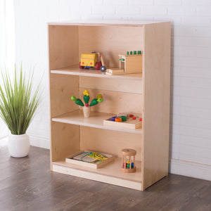 42H x 30W Birch Montessori Shelf