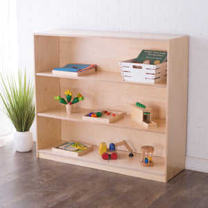 42H x 48W Birch Montessori Shelf