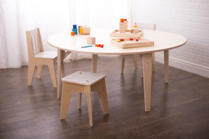"48"" Round Birch Montessori Table"