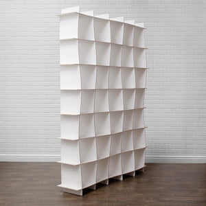 Large White Wooden Bookcase