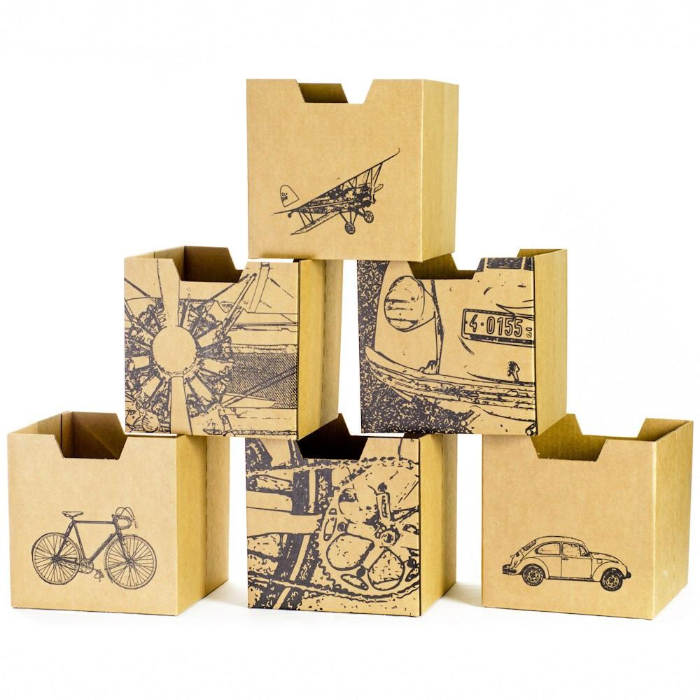City Print Kids Storage Bins, all faces