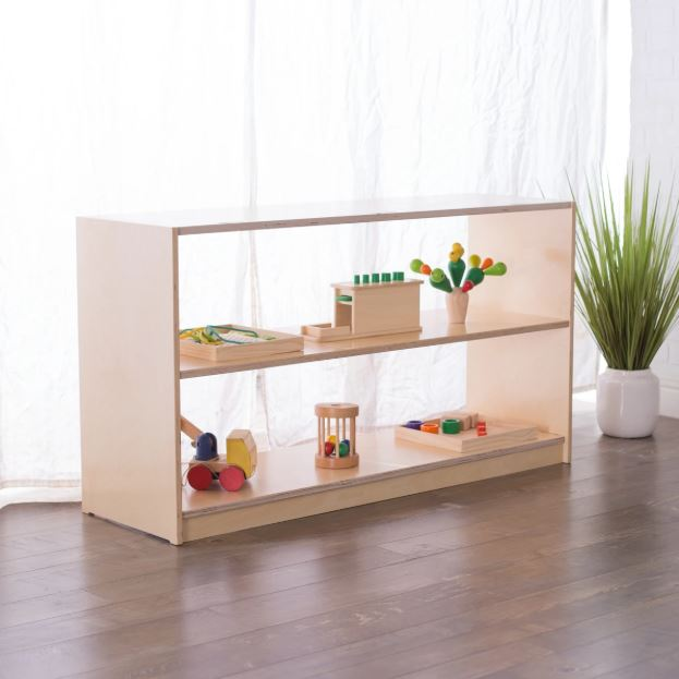 30H x 48W Birch Montessori Shelf