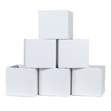 Kids White Cardboard Storage Bins 6-Pack