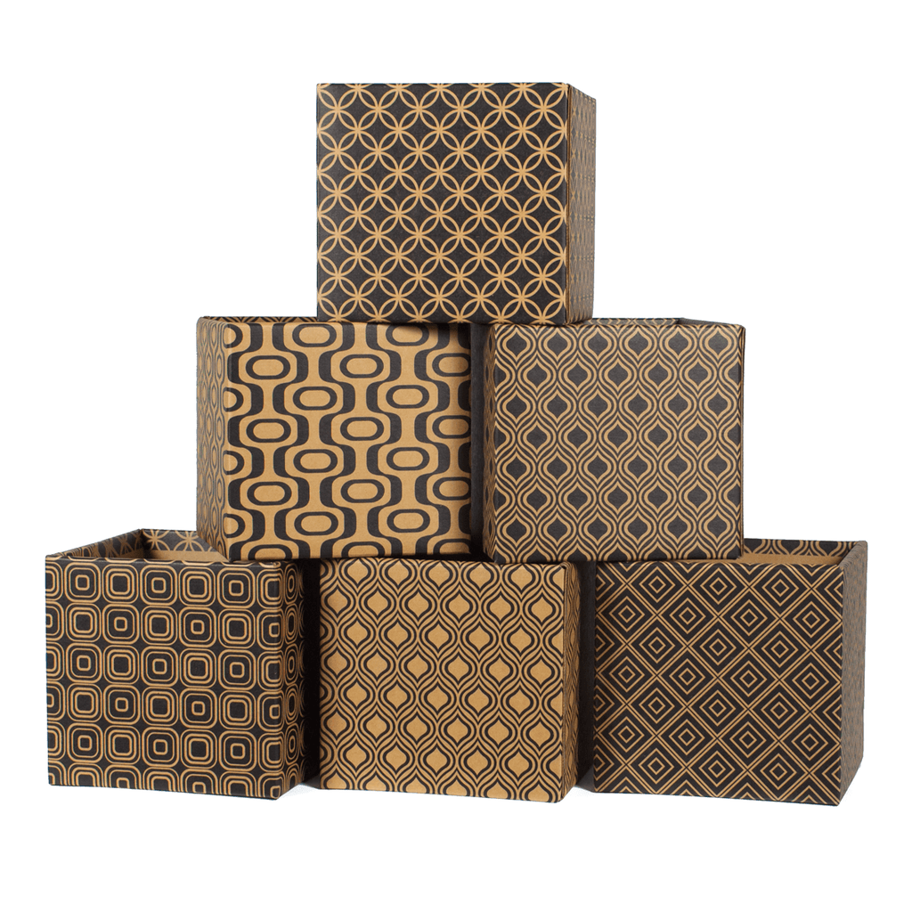 Modern Patterns Decorative Cardboard Storage Boxes