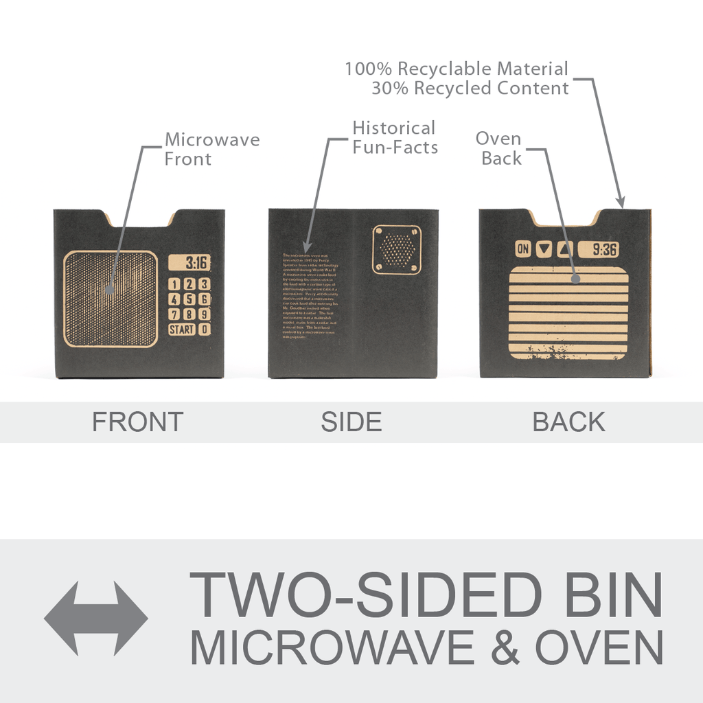 All sides of microwave/oven bins