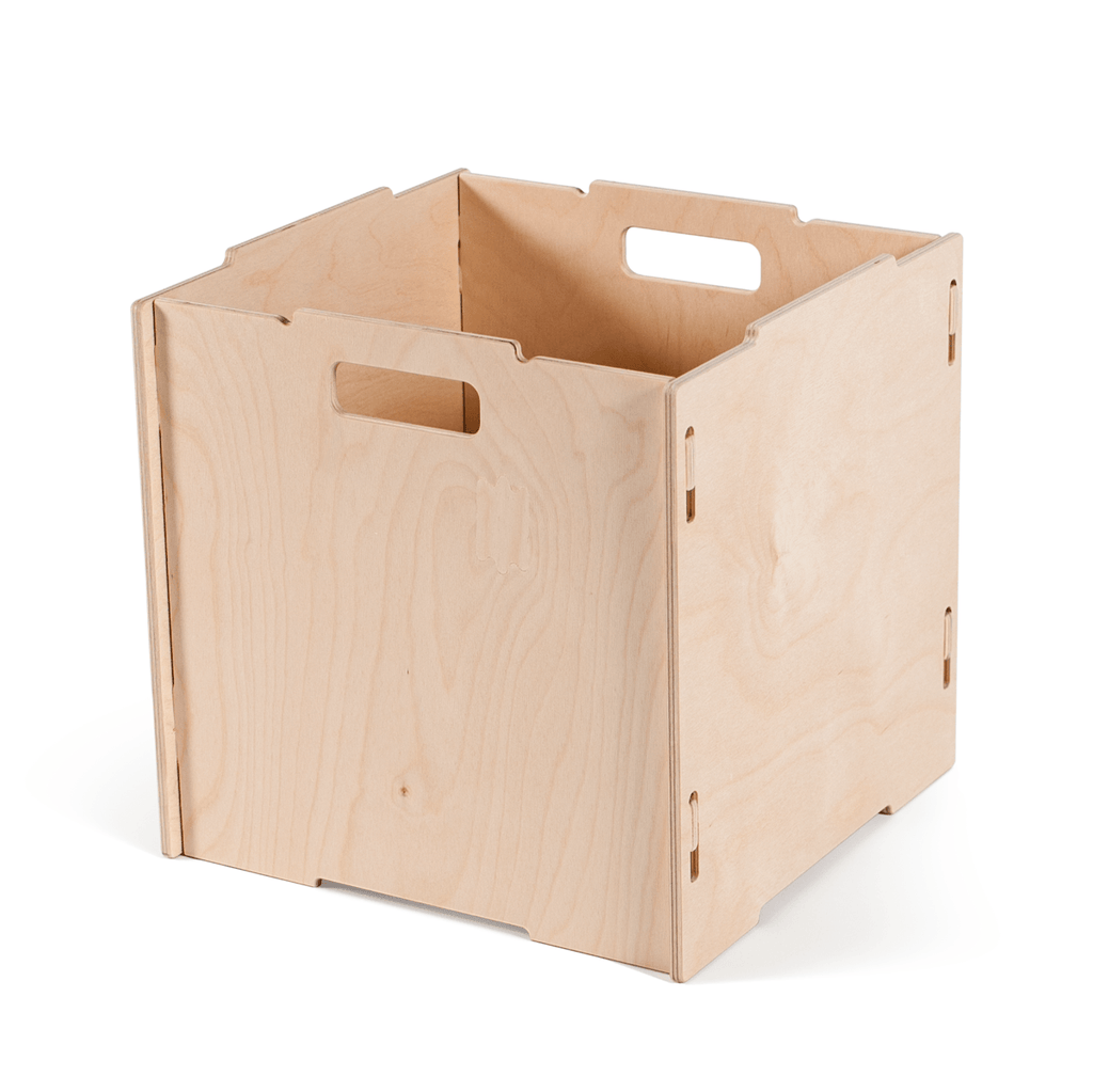 Stackable Wooden Cube Storage Boxes
