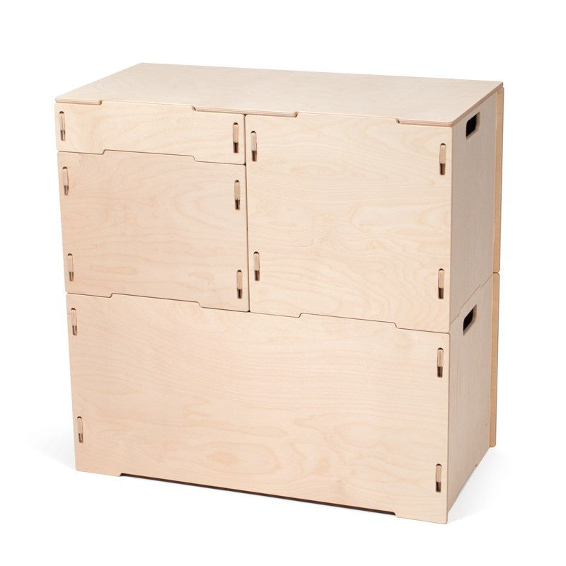 Wooden Craft Storage Cabinet | Stackable Storage Bins for hobbies, arts, and crafts