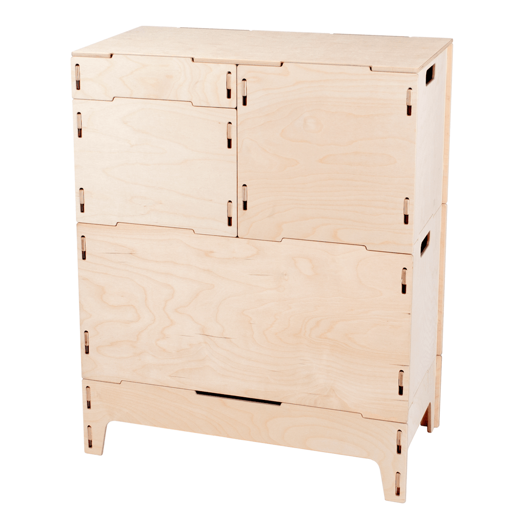 Wooden Art and Craft Storage Cabinet