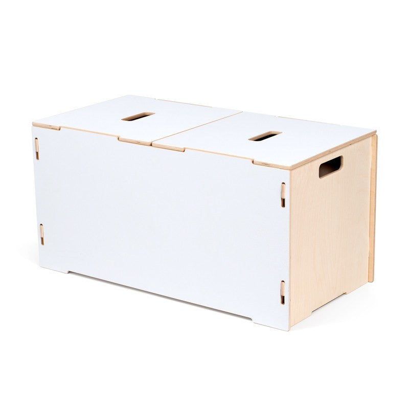 Wooden White Toy Box with Lids |White Wooden Toy Chest