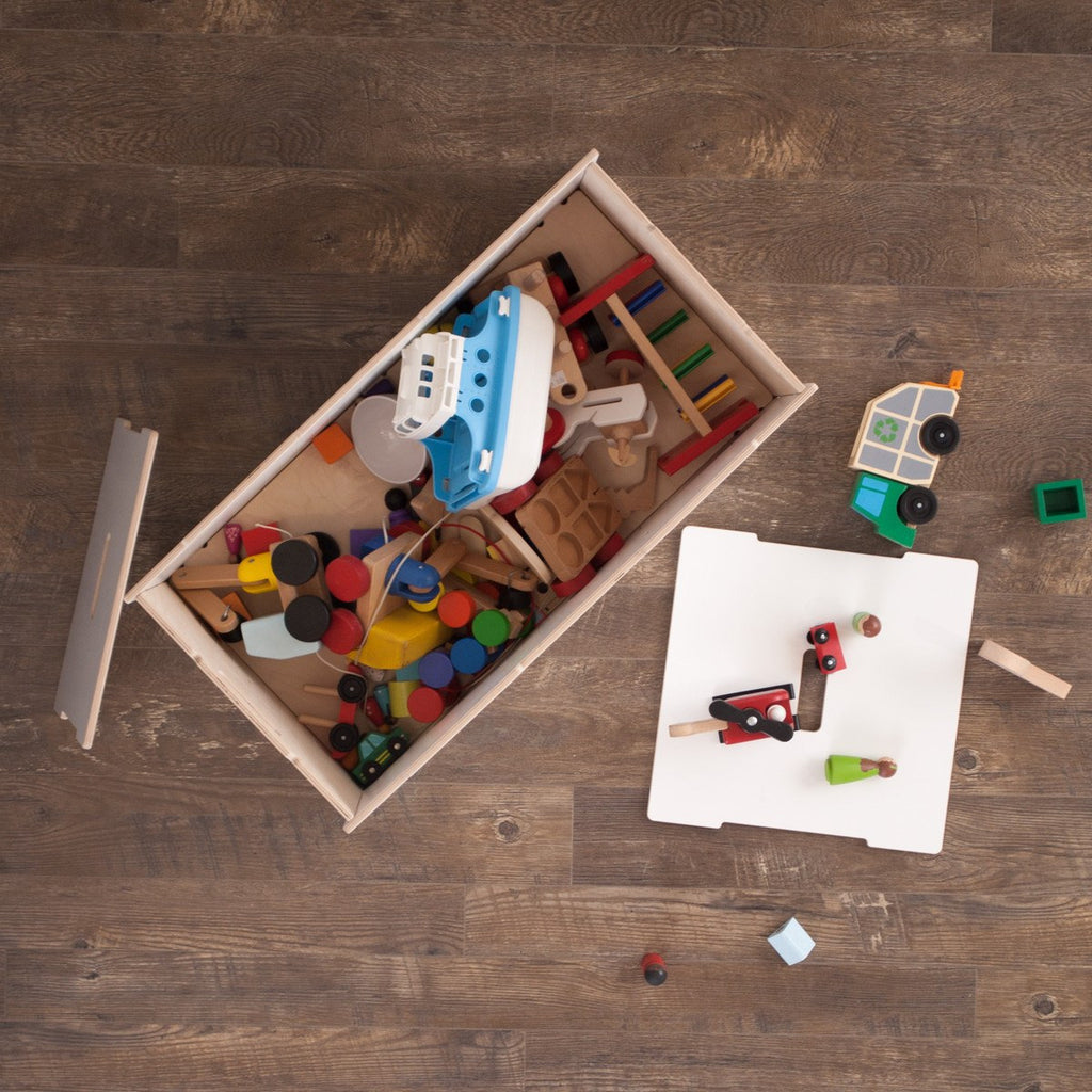 Kids Wooden Toy Box With Lids