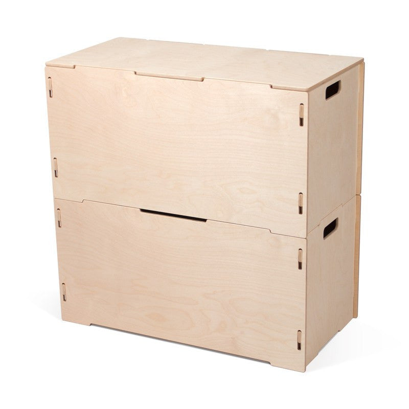 Wooden Storage Tote Box with Lids