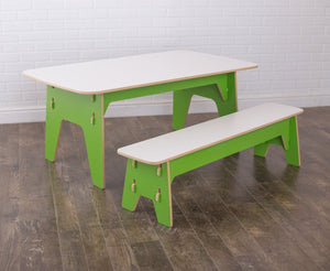 Long Modern Table and Bench