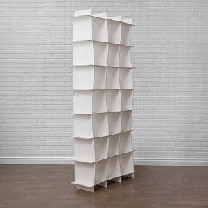Tall Modern Wave Cube Bookcase