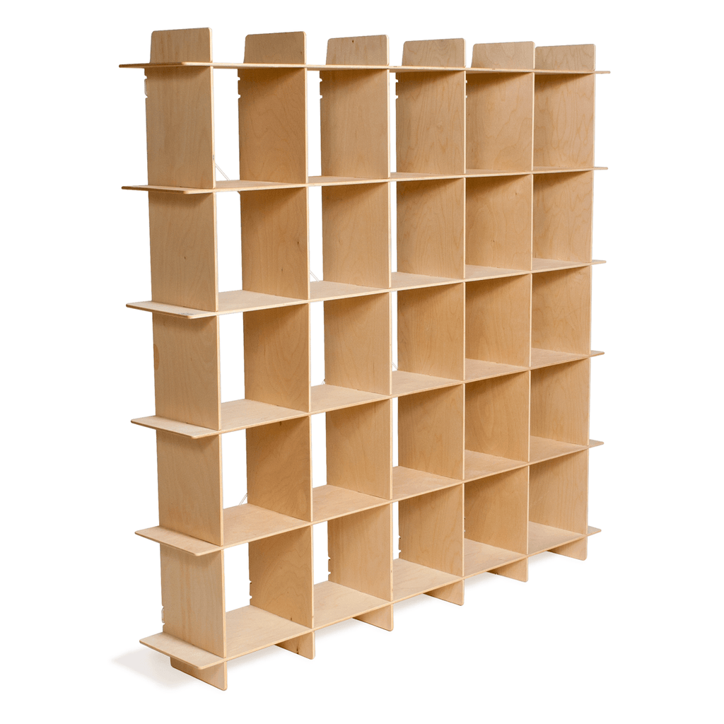 Modern Wood 25 Cubby Bookcase