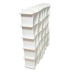 Wave White Modern Bookcase