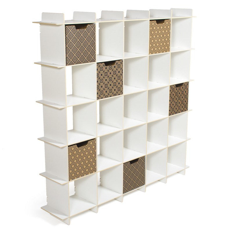 Modern White Cube Bookcase