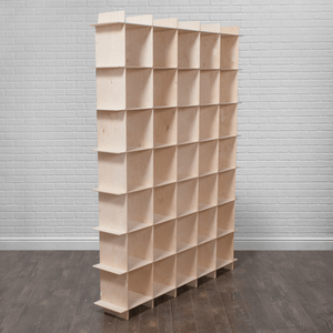Modern Wood Storage Cubes - 35 Cubby