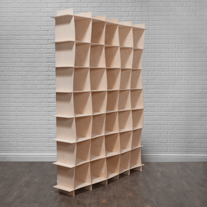 Large Modern Wood Wave Storage Cubes