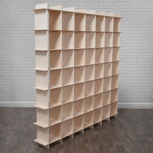 Modern Wood 49 Cubby Storage Design