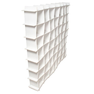 Large White Wave Cube Storage Unit