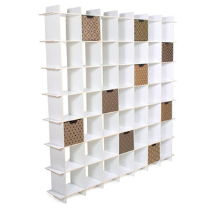 White 49 Cubby Storage