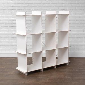 Modern White Bookcase|Cubby Bookcase