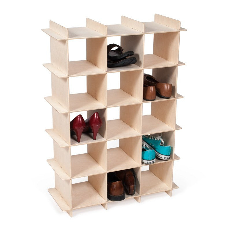 Modern wood shoe storage cubby sprout for Mueble zapatero amazon
