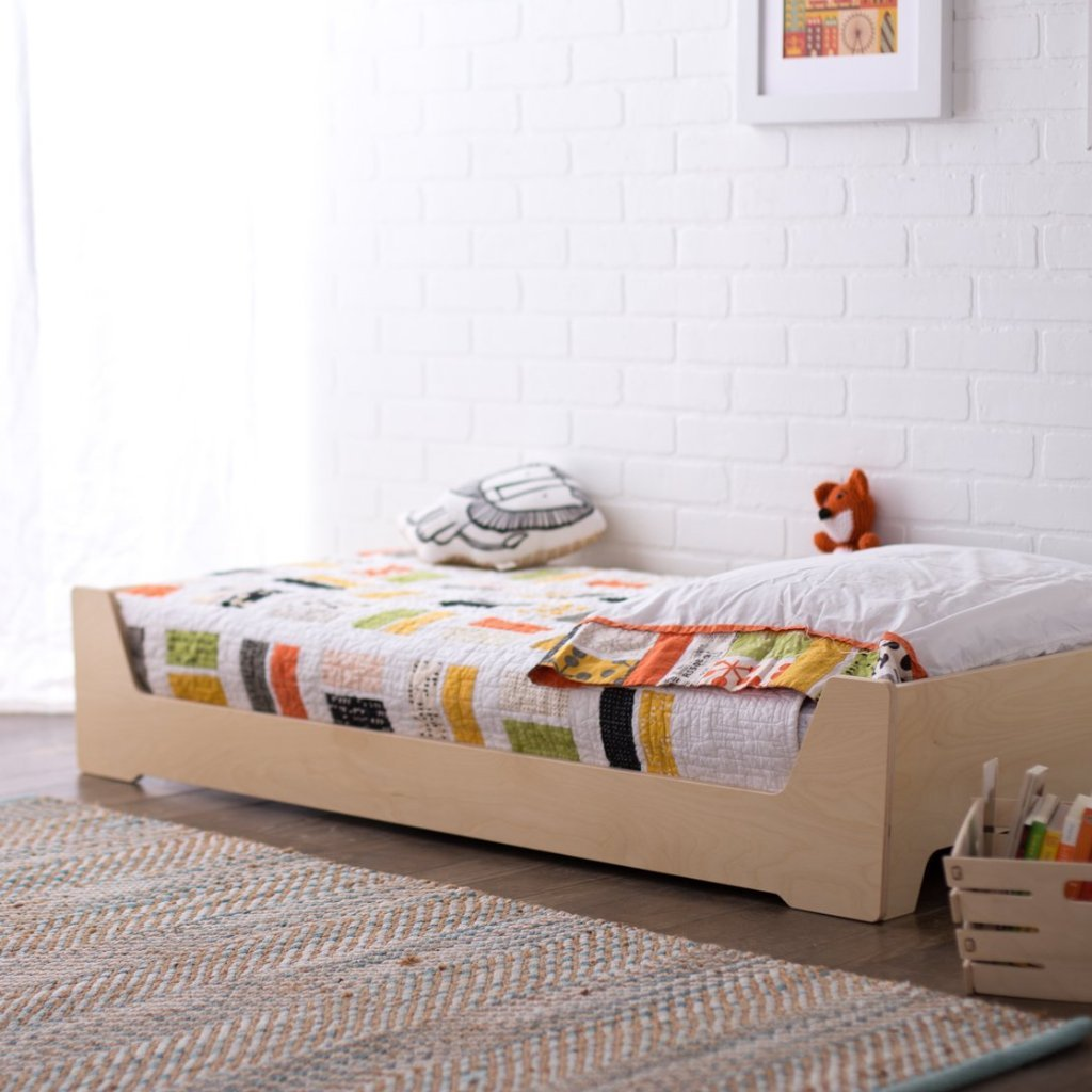 Picture of: Low Montessori Floor Bed For Toddlers Sprout