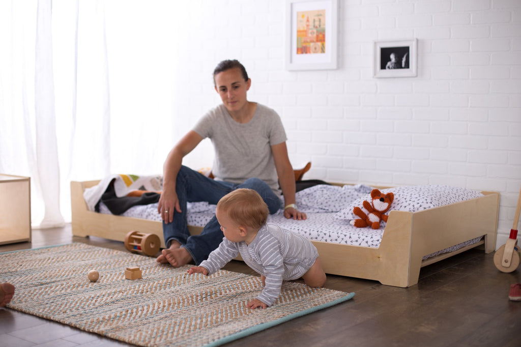 low montessori floor bed for toddlers sprout. Black Bedroom Furniture Sets. Home Design Ideas