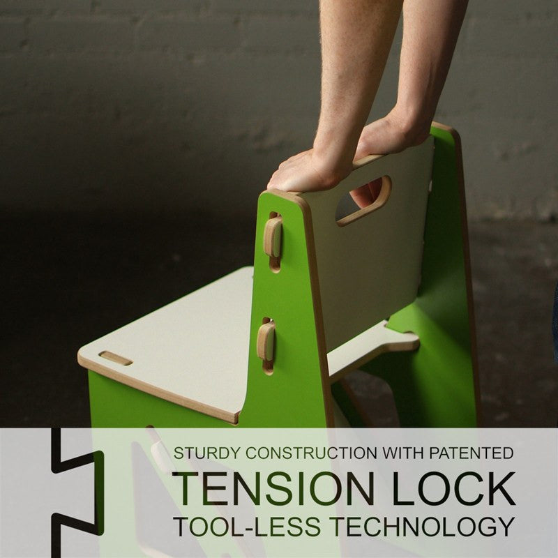 Tension Lock Tool Less Technology Quick Assembly Child's Chair
