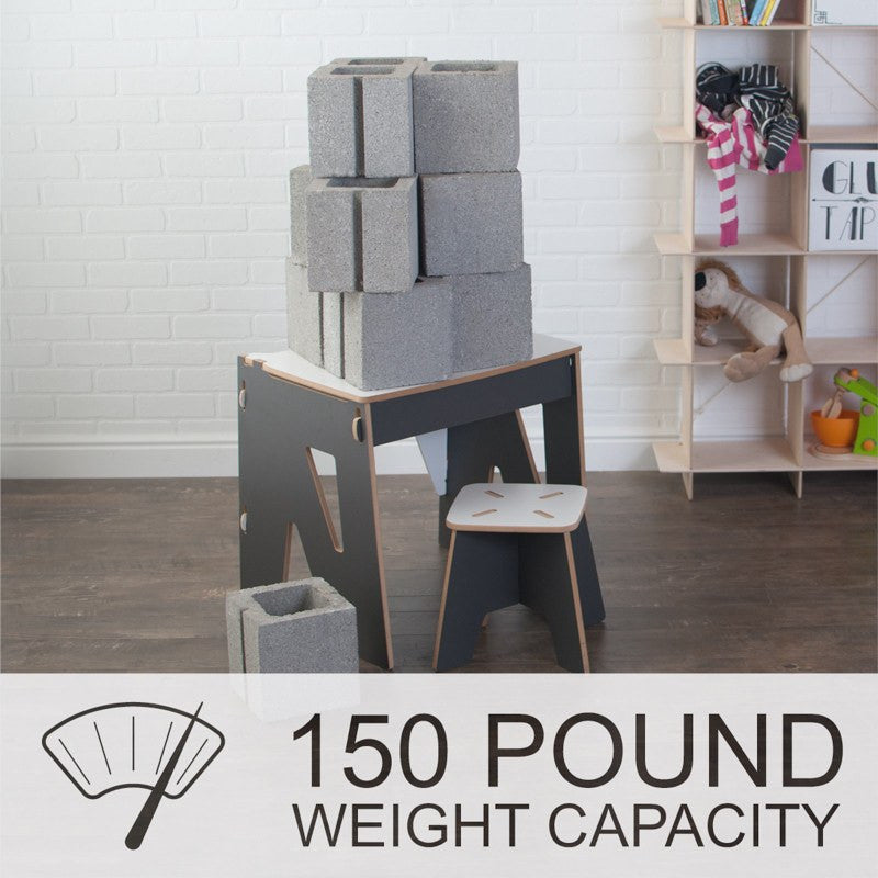 Sturdy, Durable, Grey Kids Desk with 150 lb Weight Capacity