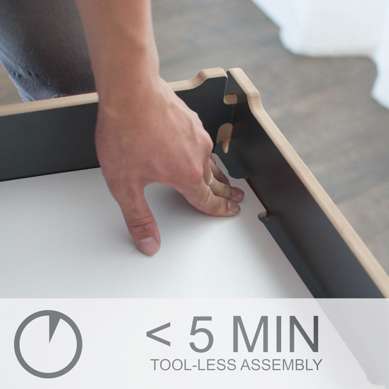 Easy Assembly Kids Desk, Under Five Minutes with Tension Lock, Tool-less Assembly