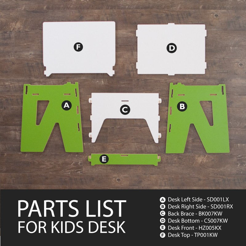 Easy Assembly Childrens Desk with Storage