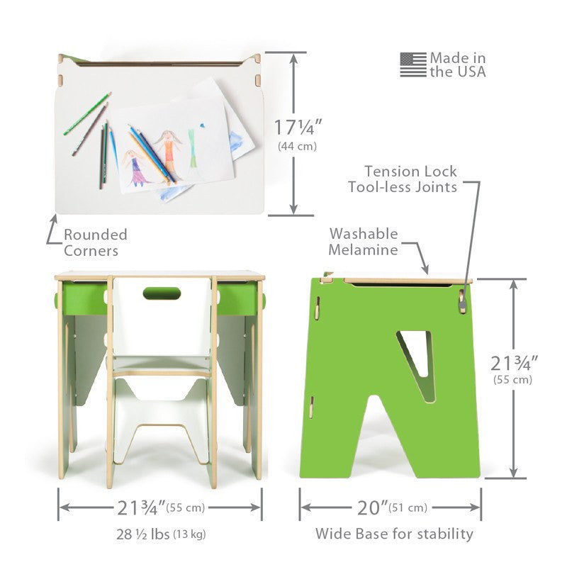 Green Toddler Desk