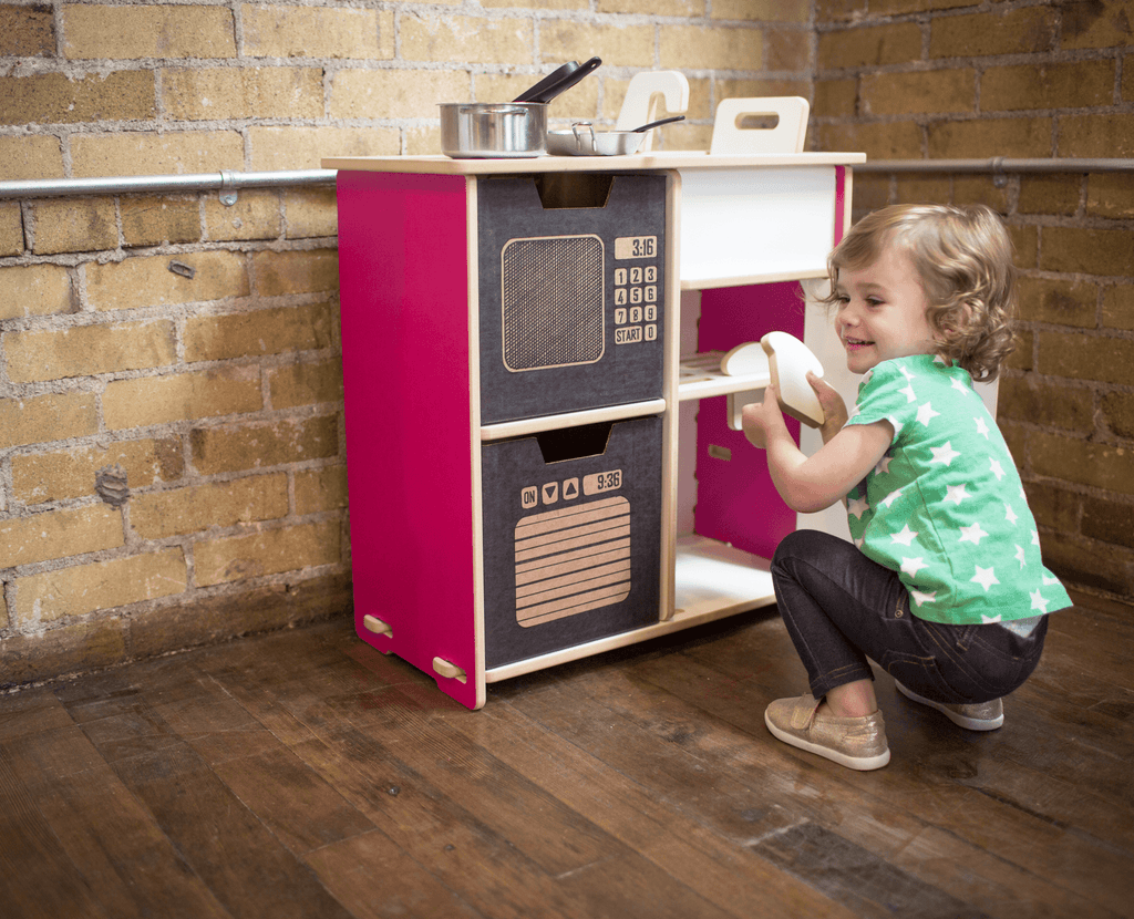 Oven/Microwave bins compatible with kids play kitchen
