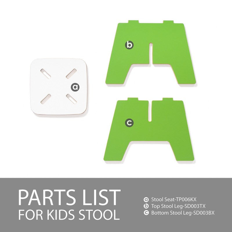 Modern, Green, Folding Kids Stool
