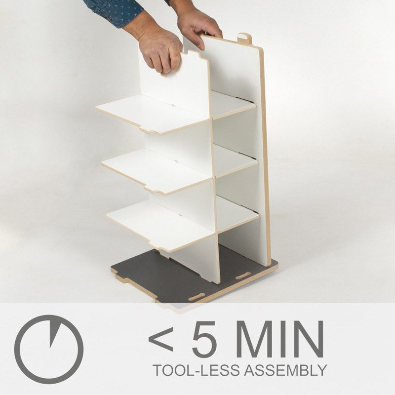 Five Minute Simple Assembly Kids Shoe Rack Bench
