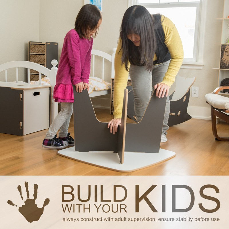 Modern Kids Table, Easy to Assemble, Build With Your Kids