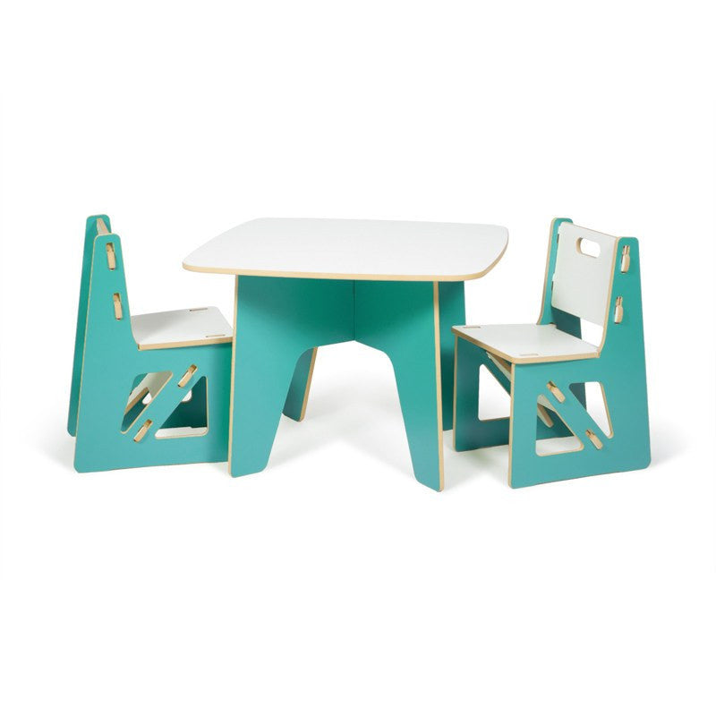 Aqua Kids Table and Chairs