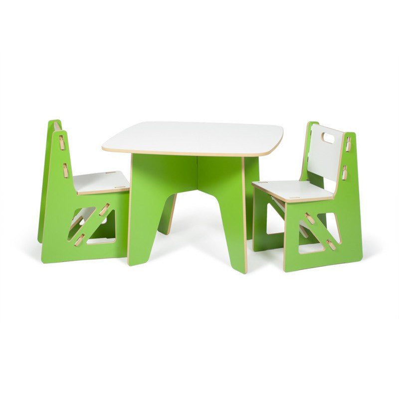 Green Kids Table And Chair Set