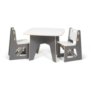 Kids Grey Table And Chairs